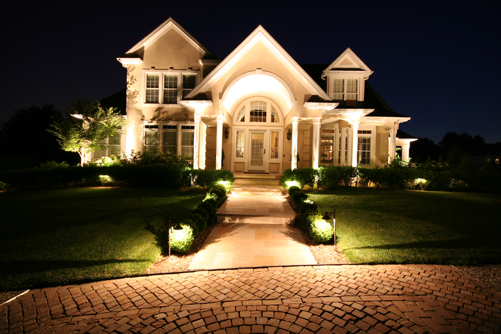 Outdoor Lighting  Landscape Exterior Low Voltage Preferred Properties Landscaping Masonry