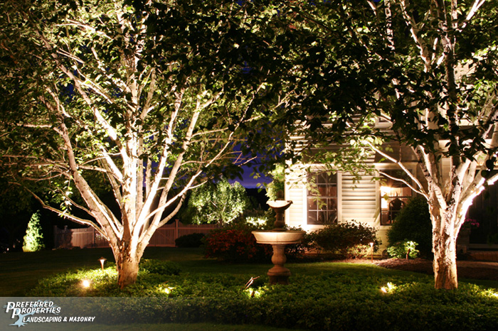 Preferred properties landscaping masonry outdoor lighting preferred properties landscape lighting is licensed and knowledgeable for creating that special event of a night time aloadofball Images