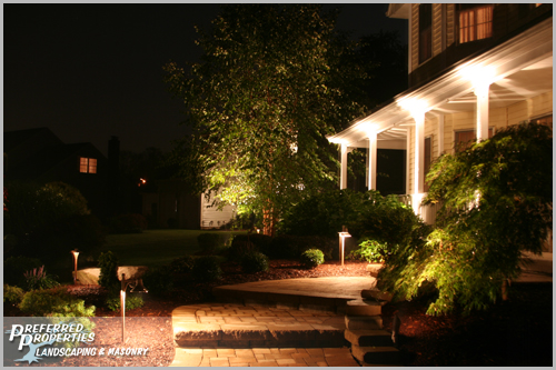 Slideshow image: outdoor lighting, low voltage lighting, exterior lighting, landscape lighting, exterior lighting